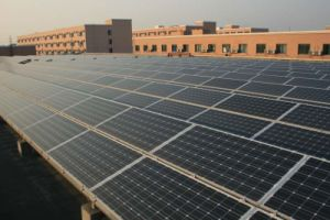 Rooftop Solar Power Plant with 8,200kW Peak Power
