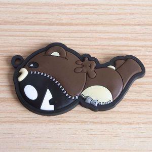 Custom 3D PVC Rubber Bear Key Tags, Eco-Friendly 3D PVC Bear Toy Key Trinket pictures & photos
