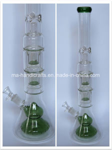 "21"" Bottom Beaker Glass Water Pipes with Double Netted Disc Perc pictures & photos"