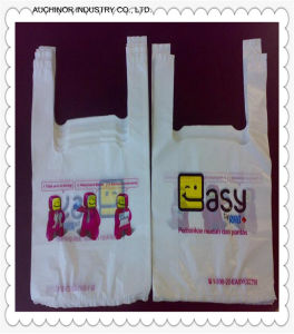 Recyclable HDPE T-Shirt Bag Vest Carrier Bag Singlet Bag Grocery Bag Check out Bag pictures & photos