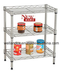 Mini Chrome Metal Spice Rack /Kitchen Wire Rack (LD452560C3C) pictures & photos