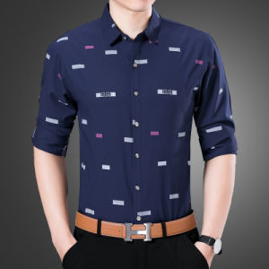 Men′s Floral Button Down Casual Slim Fit Shirt pictures & photos