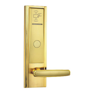 Zinc Alloy Golden Electronic Card Lock with Smart Card (L812-M) pictures & photos