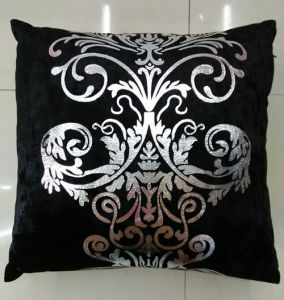 Metallic/Flock Printed Decorative Pillow Metallic Print Cushion (XPL-41) pictures & photos
