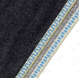 12.8oz Gold Edge Sequin Embroidered Denim Fabric for Jeans 105
