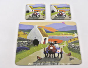 Custom Design Cork Cup Coasters Dinner Coaster Pad pictures & photos