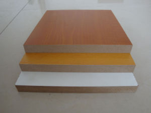2mm Good Quality E1 Glue Red Color Melamine MDF Board pictures & photos