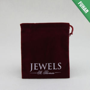 Customized Good Quality off-White Small Draw String Jewelry Bag pictures & photos