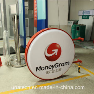 Outdoor Indoor Advertising Acrylic Vacuum Plastic Oval Round Square LED Billboard Light Box pictures & photos