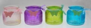 New Design Colorful Glass Candle Holder for Spring pictures & photos