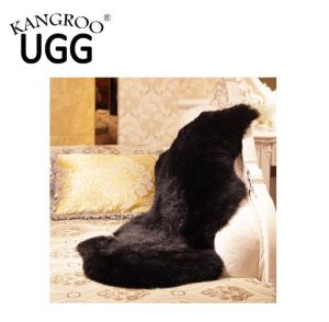 100 % Merino Sheepskin Single Rug Floor Carpet Pelt Black pictures & photos