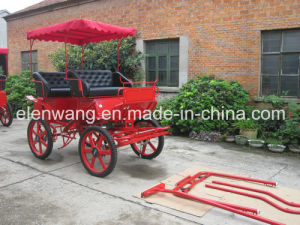 Sightseeing Tourist Marathon Horse Cart with Hood pictures & photos