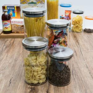 Factory Wholesale High Quality 4PCS Borosilicate Storage Food Glass Jar (100032 1-6) pictures & photos