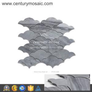 Century Mosaic Milano Gray Marble Water Jet Cloud Mosaic Tile