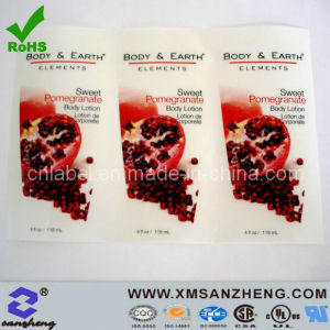 Water Resistant Permanent Colorful Glossy Clear Vinyl Packaging Stickers pictures & photos
