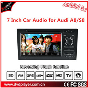 7 Inch HD Touch Screen, Double DIN, Android 5.1 OS Car DVD GPS Navigation for Audi A8/S8 pictures & photos