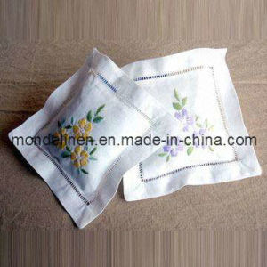 Linen Bag with Nice Floral Embroidery (LB-007)