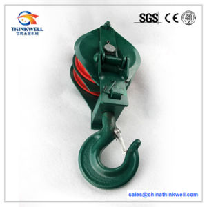 Alloy Steel Wire Rope Pulley Blocks with Swivel Hooks pictures & photos