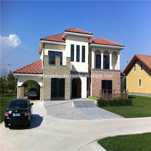 Two Floor Light Steel House at Low Cost with Car Garage and 3 Bedrooms pictures & photos