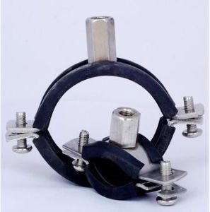 Black Rubber with Rubber Heavy Duty Wall Mount Pipe Clamp pictures & photos
