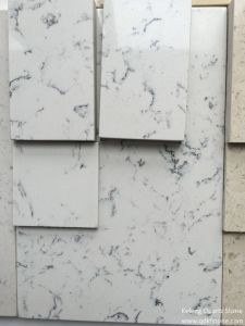 Hot Marble Color Carara White Engineered Quartz Stone for Apartment Solid Surface pictures & photos