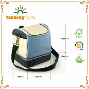 600d Polyester Zippered Insulated Lunch Bag, Customized Lunch Cooler Bag, Lunch Bag pictures & photos