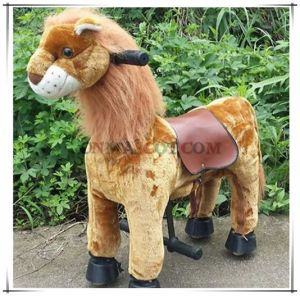Vivid Lion Animal Ride on Toy Electric Horse Ride Plush Toy pictures & photos