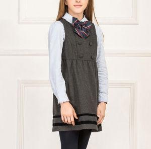 Manufacturer Best Sale Custom Girl′s Winter Grey School Uniform Dress pictures & photos
