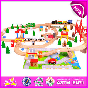 Hot New Product for 2015 Kids Toy Large Toy Train, Children Toy Christmas Toy Train, Train Railway Set Toy (WITH 100PCS) W04c018 pictures & photos