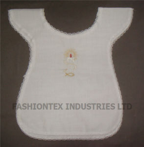 High Quality White Cotton Baby Baptismal Garment Bib pictures & photos