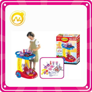 Plastic BBQ Set Play Toy Cooking Kitchen Play Set pictures & photos