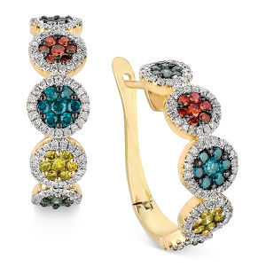 Color Gemstone Jewelry 925 Silver Hoop Earrings Gold Plating pictures & photos