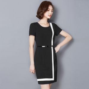 Wholesale Professional Work Dresses Women Career Dresses Ladies Chiffon Dress pictures & photos