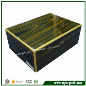 Manufacturing Custom High Glossy Solid Wood Cigar Box pictures & photos