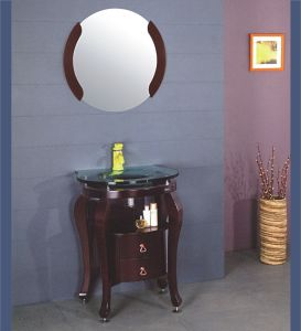 Expresso Solid Wood Bathroom Cabinet (B-605) pictures & photos