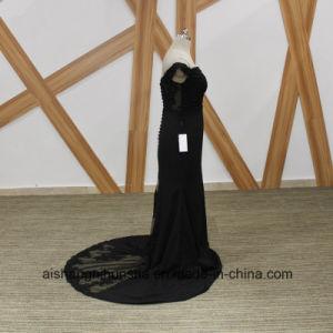 Black Mermaid Bridesmaid Dresses Elegant Boat Neck Beaded Bridesmaid Dress pictures & photos