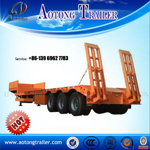 3 Axle 60ton Lowboy Lowbed Semi Trailer (9406TDP) pictures & photos