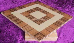 Zebra Pattern Assembled Parquet Wood Flooring pictures & photos