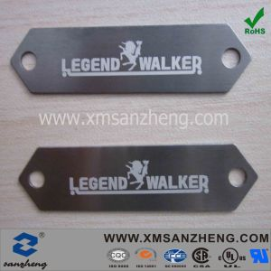 Aluminum Logo Tag in Laser Printing (SZXY032) pictures & photos