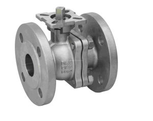 DIN 1.4408 2PC Flange Ball Valve pictures & photos