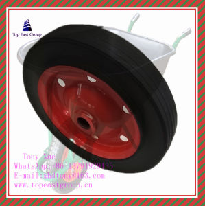 Super Quality Solid New Rubber Wheel 350-8 400-8 pictures & photos