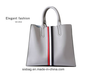 Fashion Soft PU Women Tote Bag Splice Designer Handbag pictures & photos