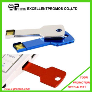 Various Color Custom Logo Metal Key Shape USB pictures & photos