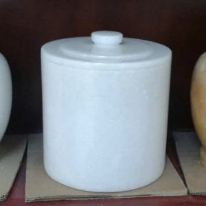 Snow White Marble Round Cemetery Urns pictures & photos