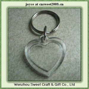 Blank Key Rings of Heart Shape Acrylic Material pictures & photos