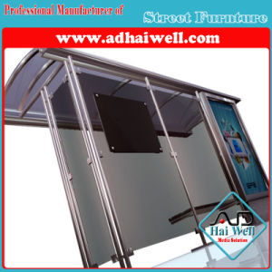 Full Glass Bus Shelter with Mupi Light Box pictures & photos