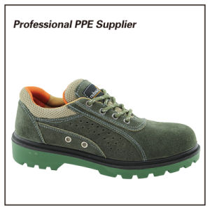 Suede Leather Lightweight Summer Breathable Safety Footwear pictures & photos