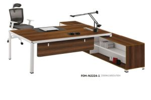 New Arrival Manager Boss Creative Walnut Finish Contemporary Modern Italian Desk pictures & photos