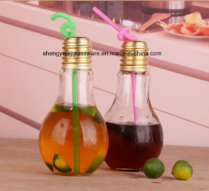 Hot Sale Lamp Glass Bottle/ Spray Colors Bottle with Metal Cover pictures & photos