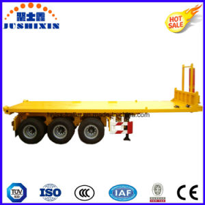 3 Axles Flat Bed Tipper Semi Trailer pictures & photos